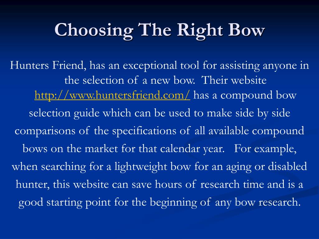 Choosing The Right Bow