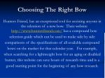 choosing the right bow24