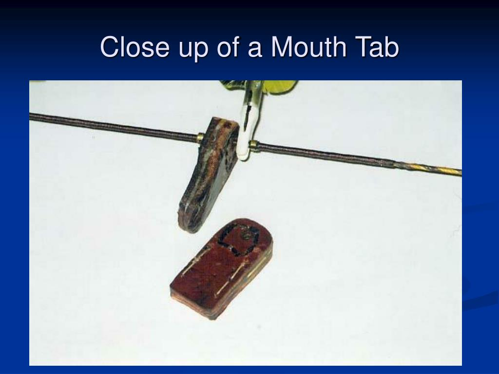 Close up of a Mouth Tab