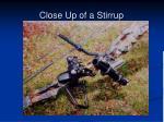 close up of a stirrup