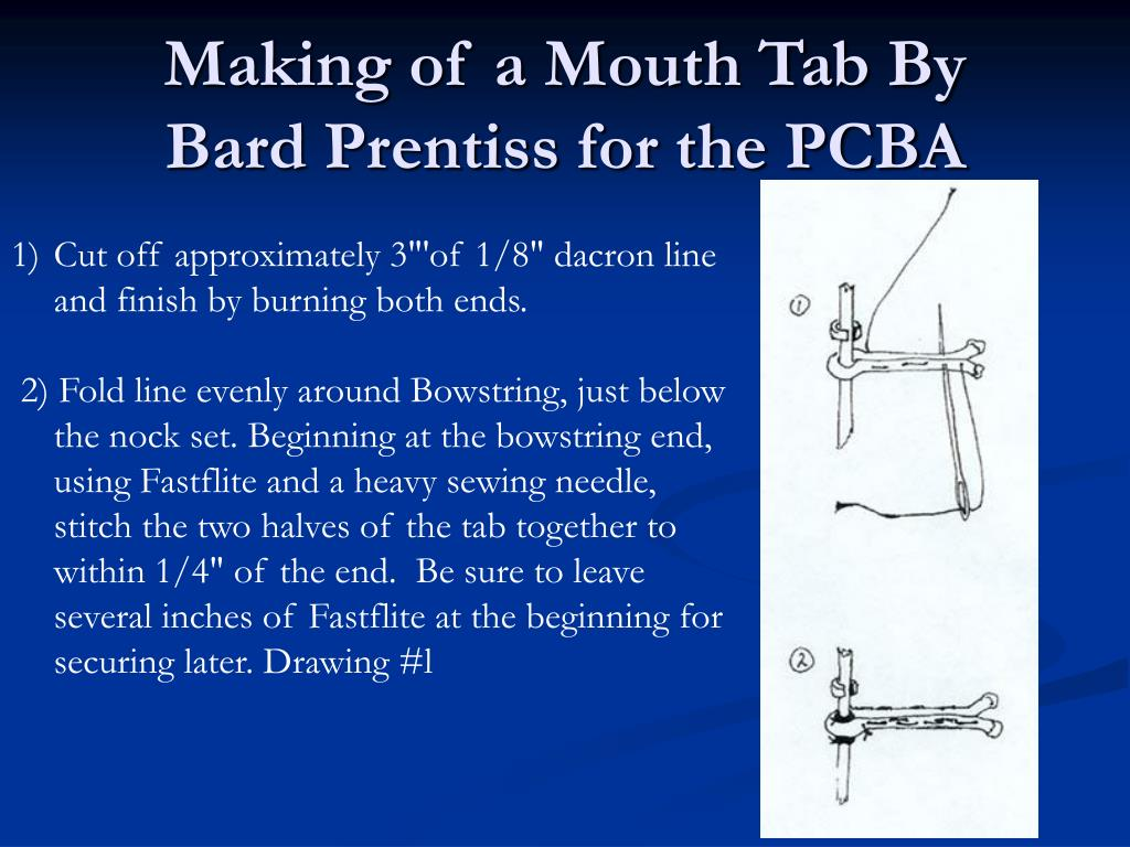 Making of a Mouth Tab By