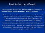 modified archers permit14