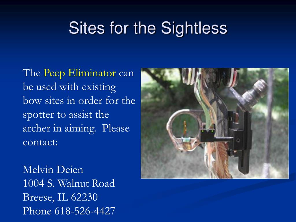 Sites for the Sightless