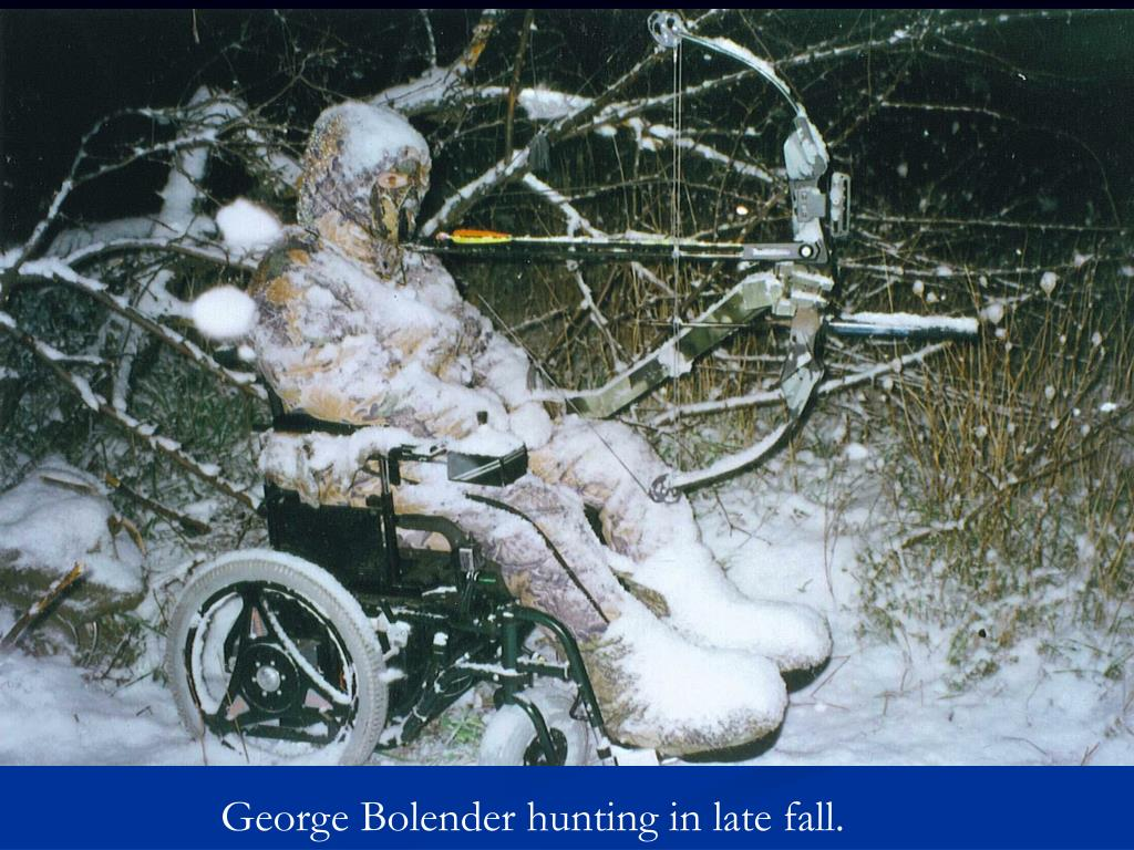 George Bolender hunting in late fall.