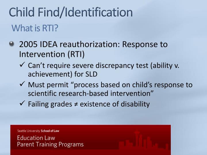Child Find/Identification