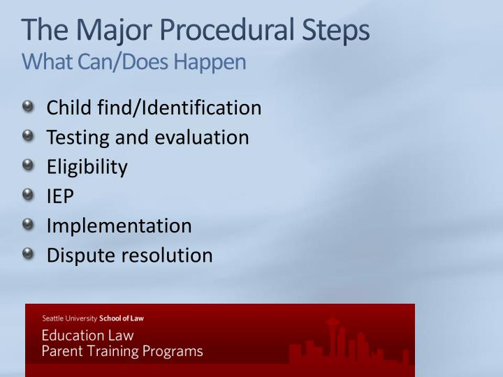 The Major Procedural Steps