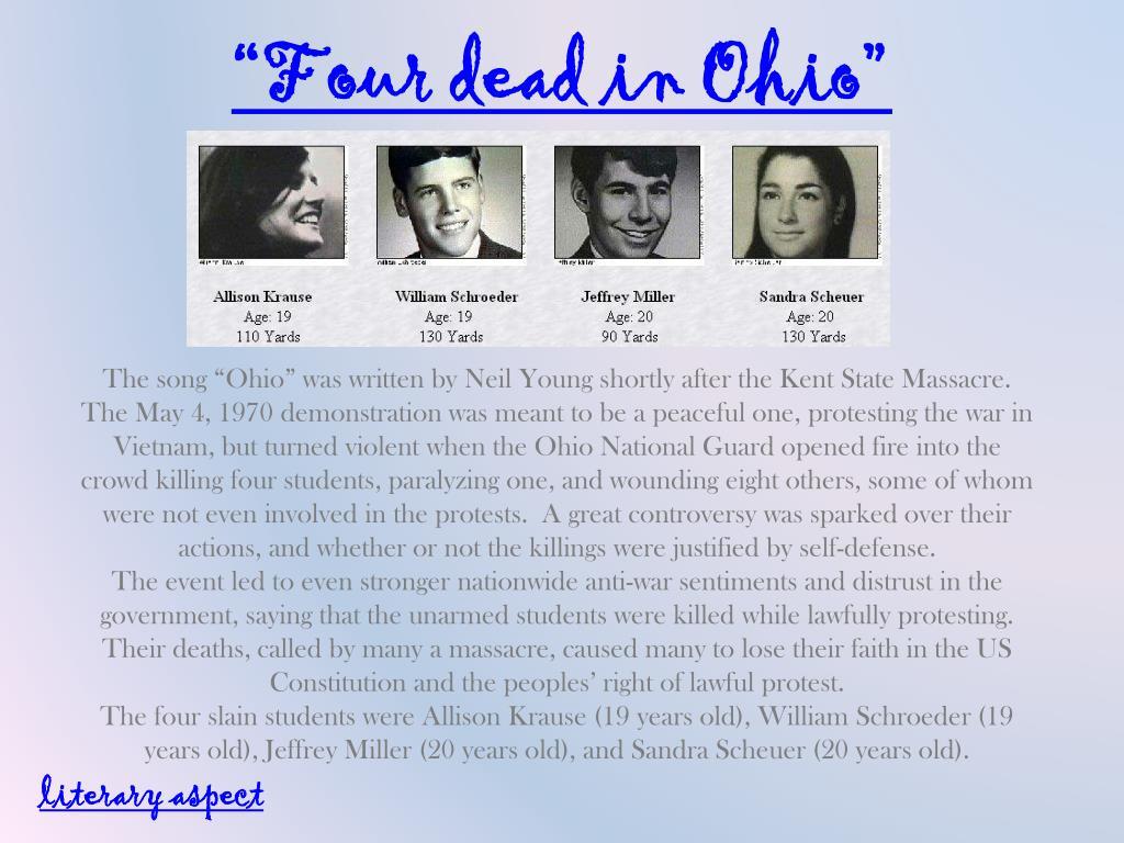 """""""Four dead in Ohio"""""""