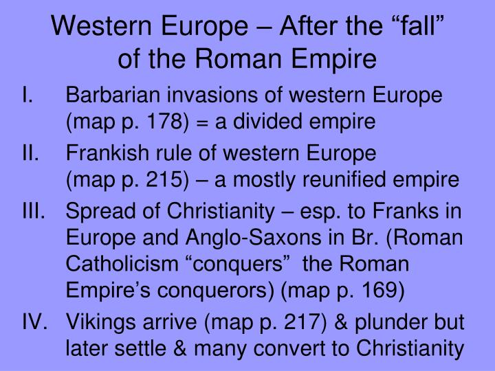 Western europe after the fall of the roman empire