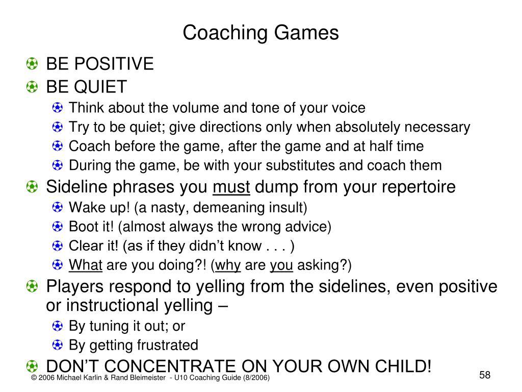 Coaching Games