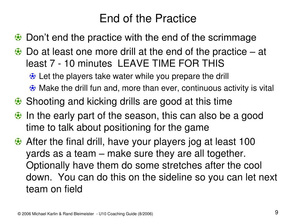 End of the Practice