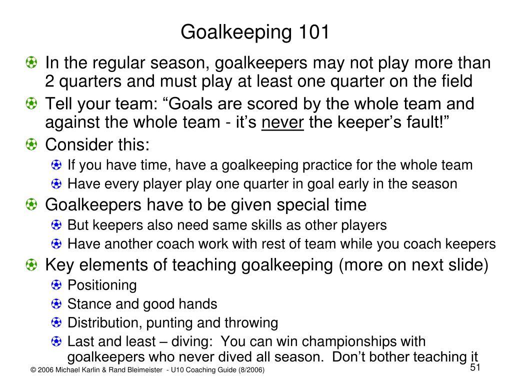 Goalkeeping 101