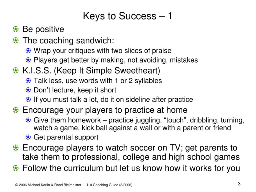 Keys to Success – 1