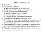 keys to success 1