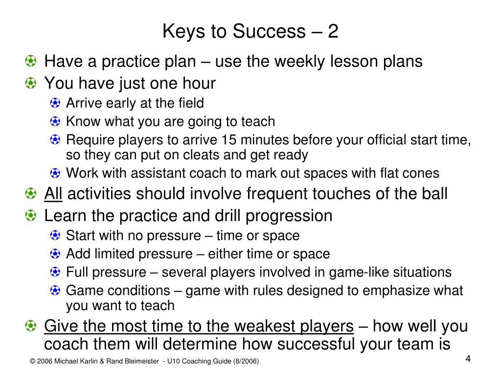 Keys to Success – 2