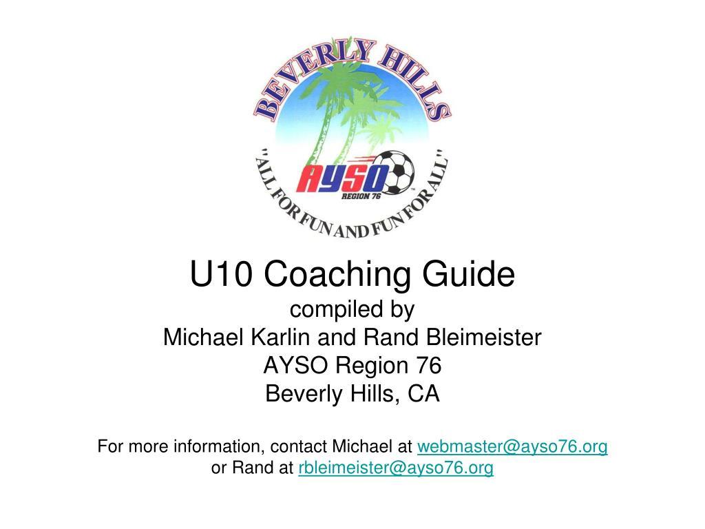 U10 Coaching Guide