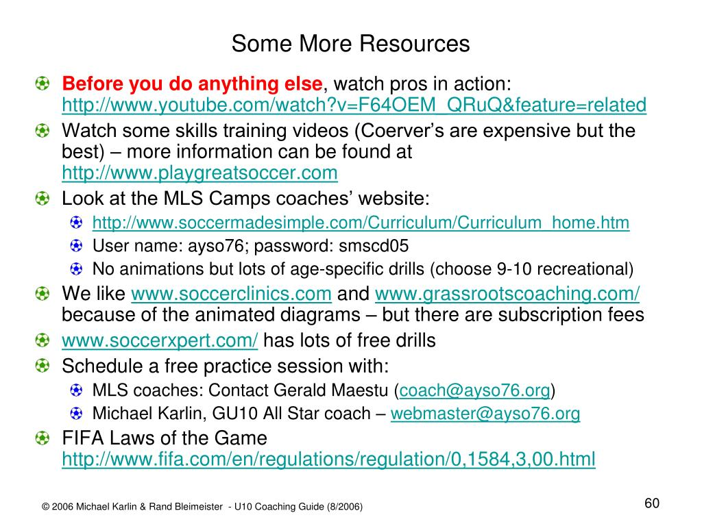 Some More Resources