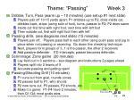 theme passing week 3