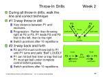 throw in drills week 2