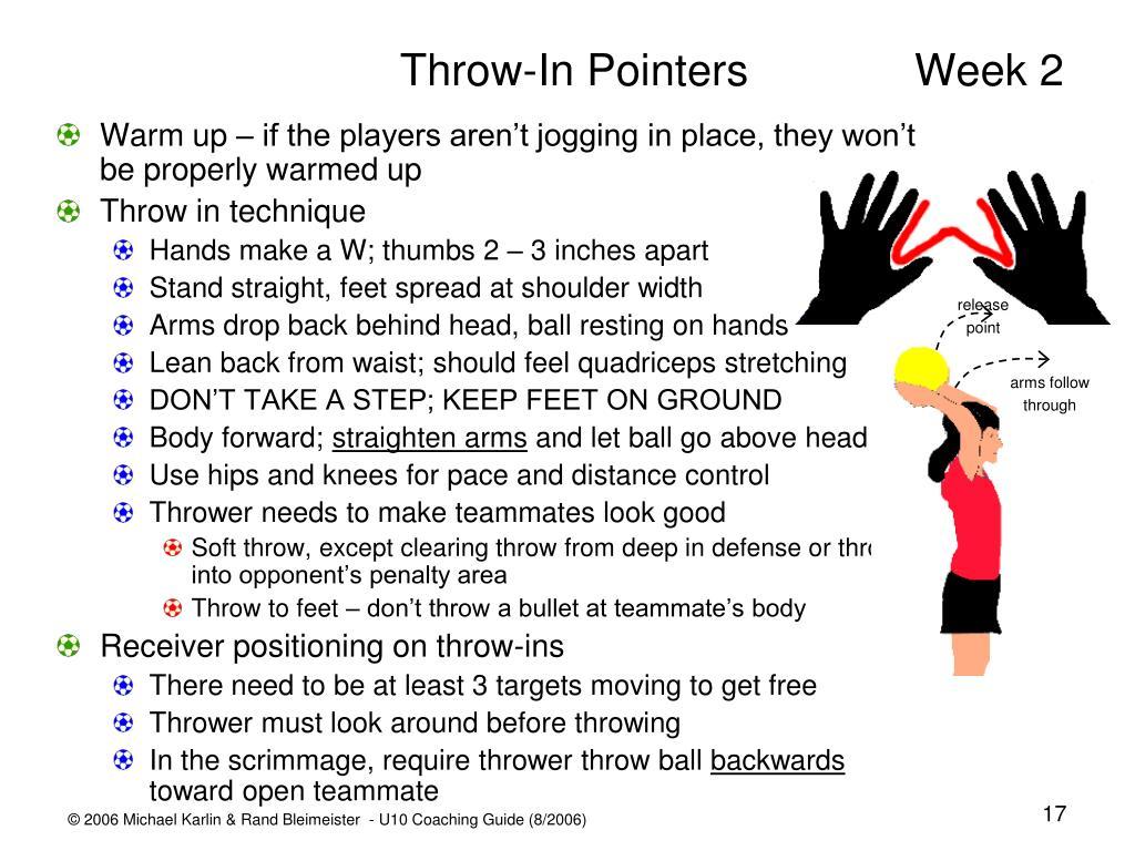 Throw-In PointersWeek 2