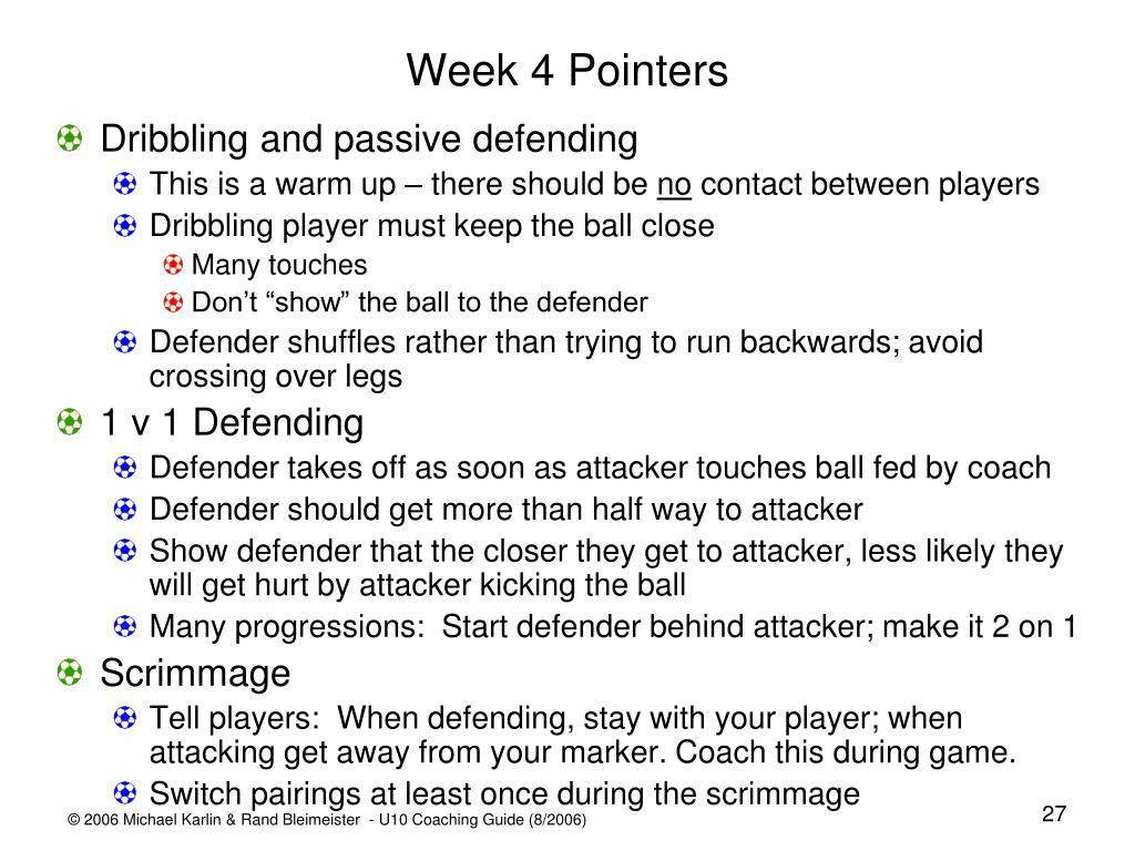 Week 4 Pointers