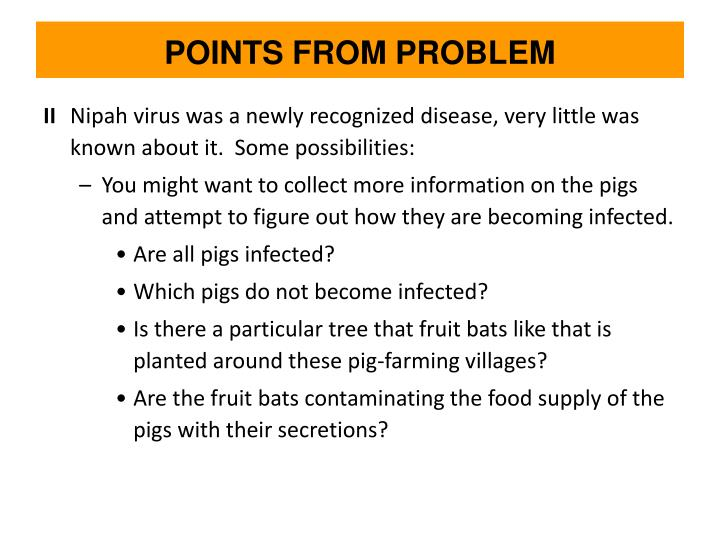 POINTS FROM PROBLEM