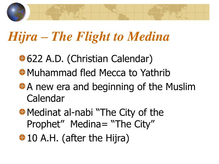 Hijra – The Flight to Medina