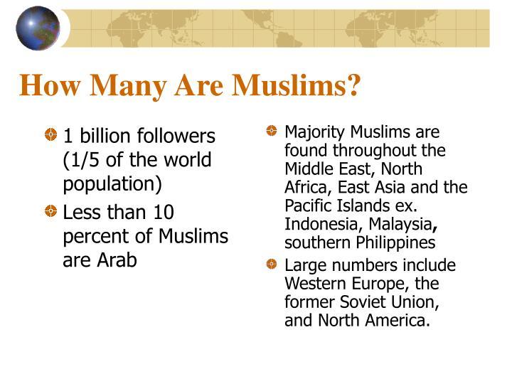 1 billion followers (1/5 of the world population)