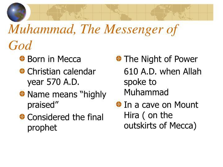 Born in Mecca