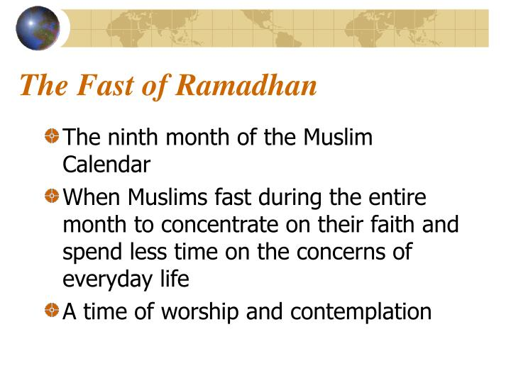 The Fast of Ramadhan