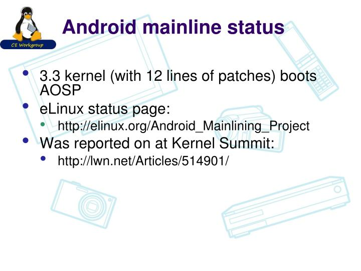 Android mainline status