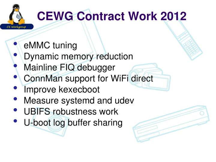 CEWG Contract Work 2012
