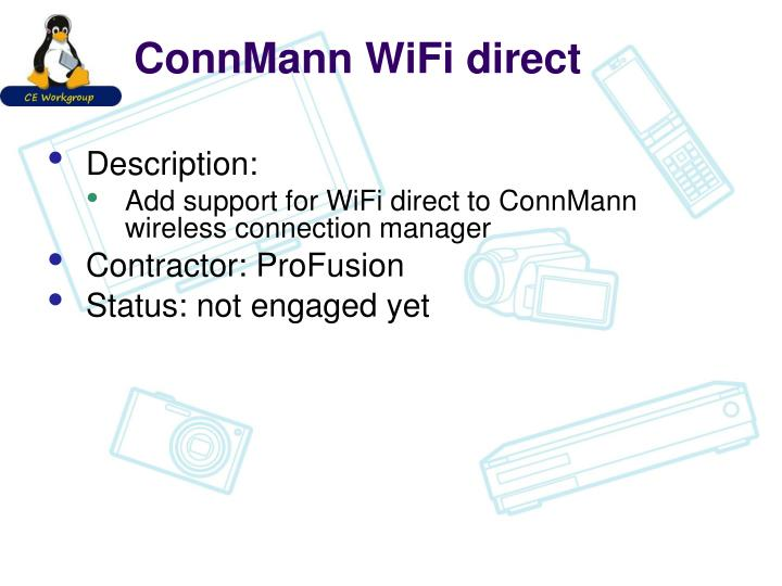 ConnMann WiFi direct