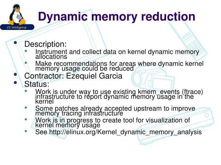 Dynamic memory reduction