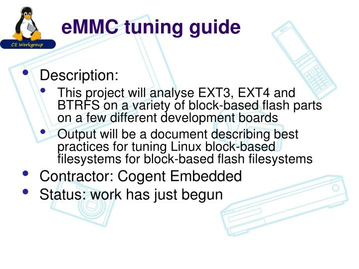 eMMC tuning guide