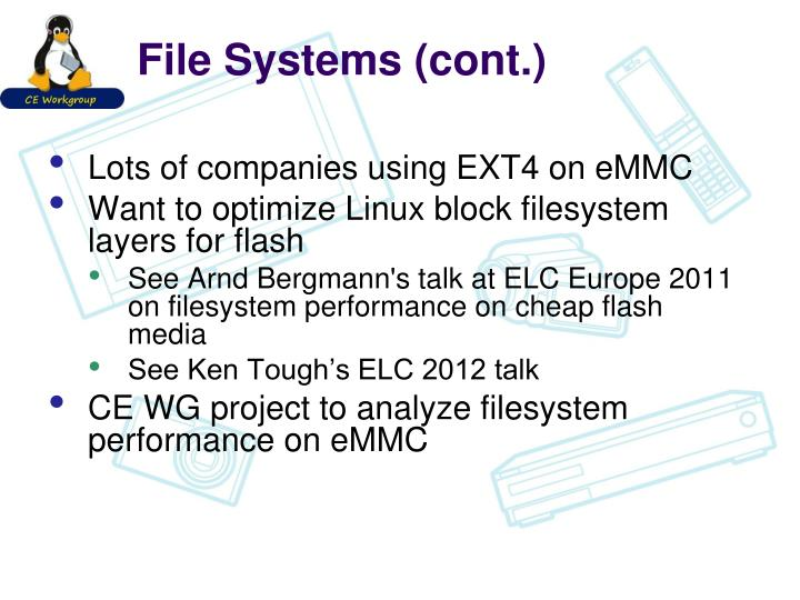 File Systems (cont.)