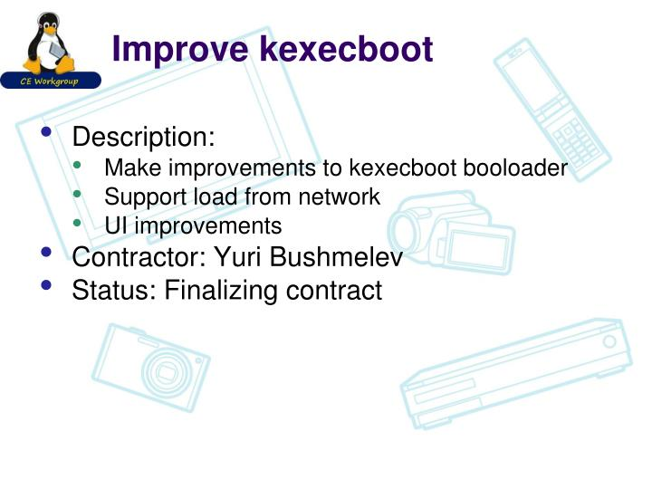 Improve kexecboot