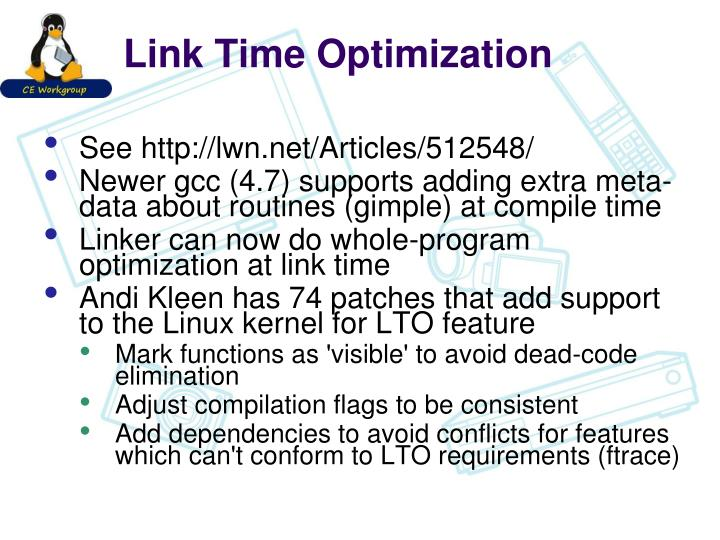 Link Time Optimization