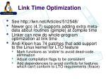 link time optimization