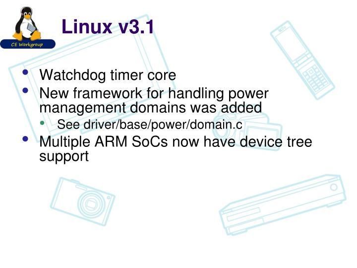 Linux v3.1
