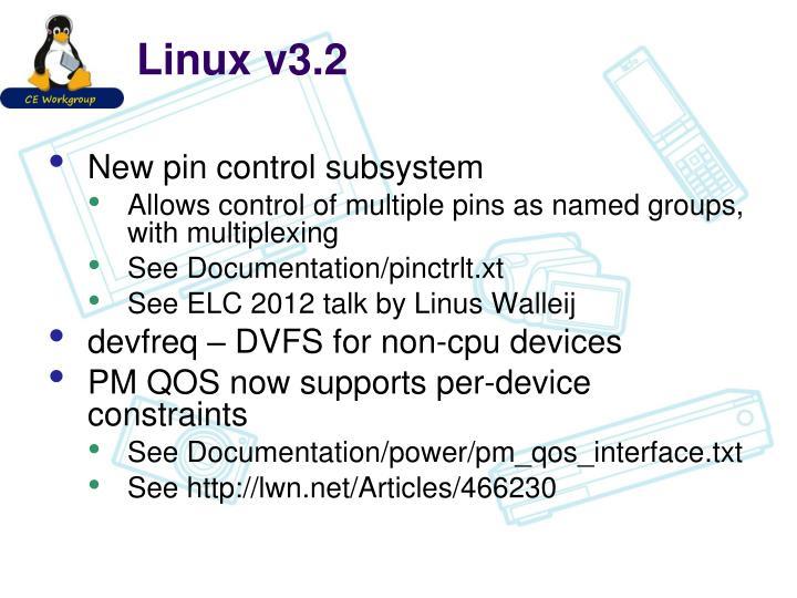 Linux v3.2