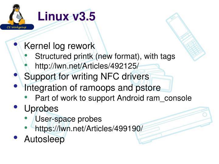 Linux v3.5
