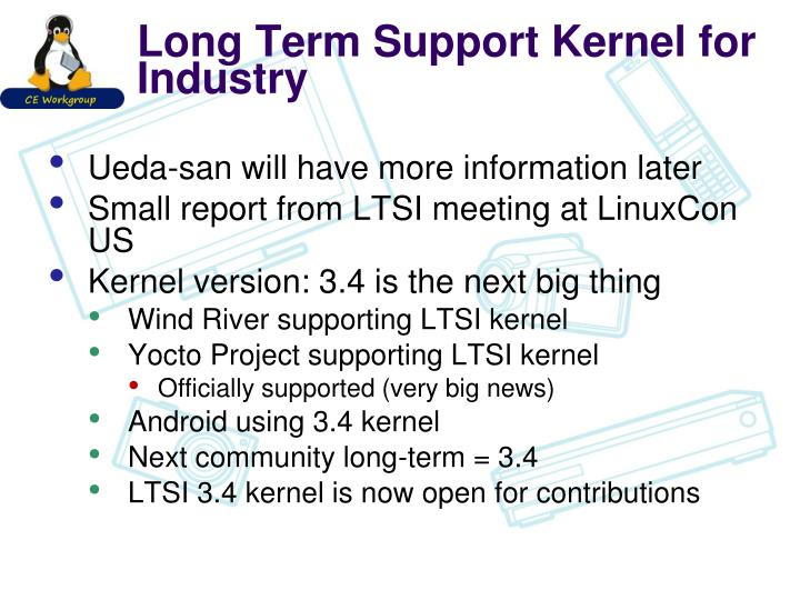 Long Term Support Kernel for Industry