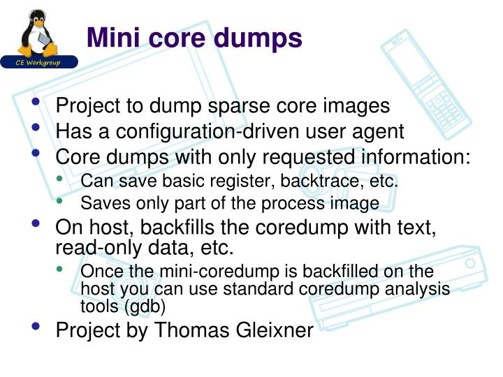Mini core dumps