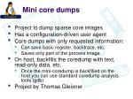 mini core dumps