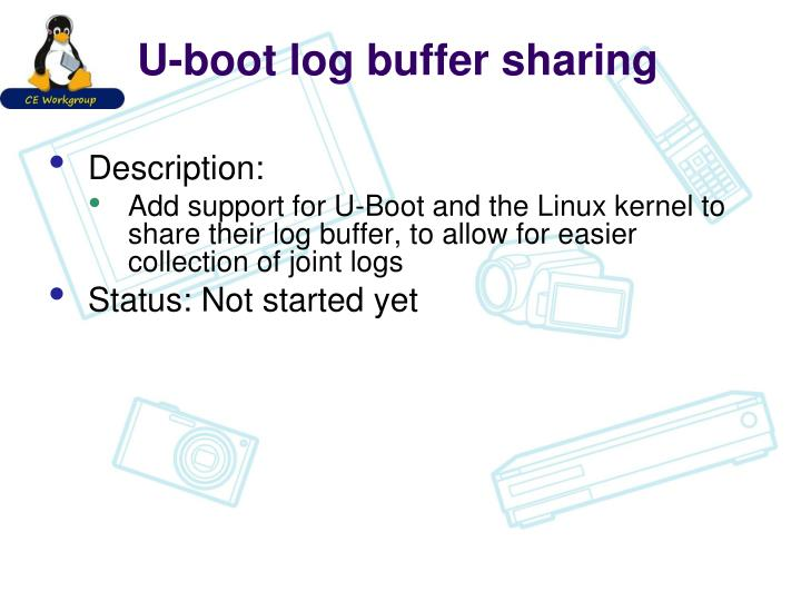 U-boot log buffer sharing