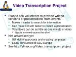 video transcription project