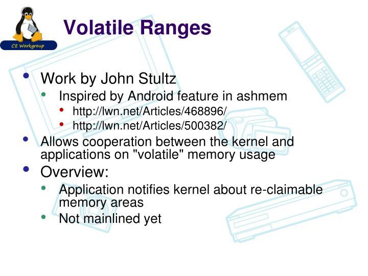 Volatile Ranges