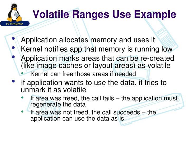 Volatile Ranges Use Example