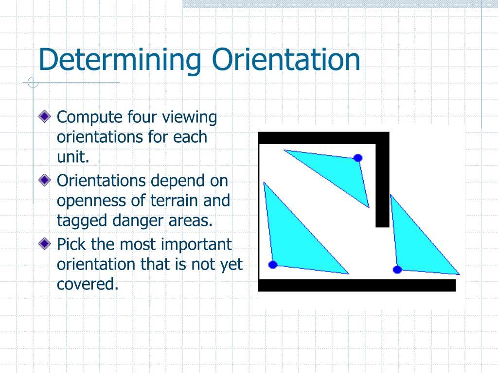 Determining Orientation