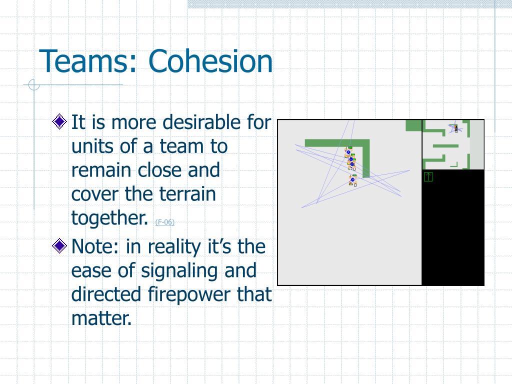 Teams: Cohesion